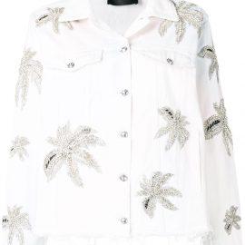 Philipp Plein floral print jacket - White