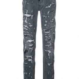 Philipp Plein heavy distressed jeans - Black