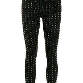 Philipp Plein stud embellished skinny jeans - Black