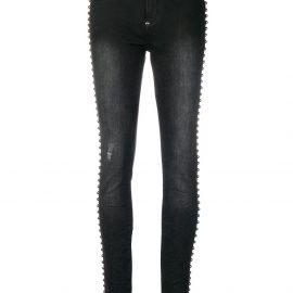 Philipp Plein studded trim skinny jeans - Black