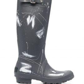 Philosophy Di Lorenzo Serafini paint splatter print wellington boots - Grey