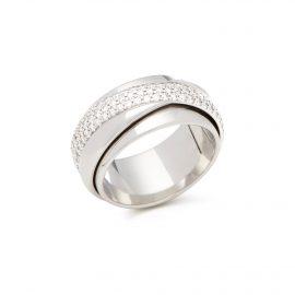 Piaget 18k White Gold Diamond Possession Ring, White
