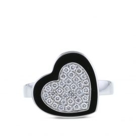Piaget 2000s pre-owned 18kt white gold diamond heart ring - Silver