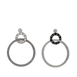 Piaget 2010s pre-owned 18kt white gold diamond pre-owned Possession earrings