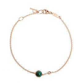 Piaget Possession Malachite Diamond 18K Rose Gold Charm Bracelet