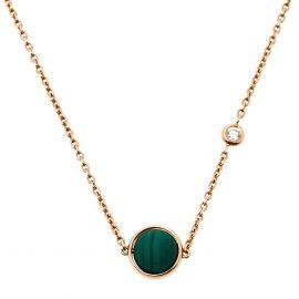 Piaget Possession Malachite Diamond 18K Rose Gold Necklace, Gold