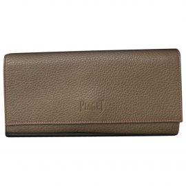 Piaget beige Leather Wallets
