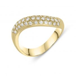 Picchiotti 18ct Rose Gold 0.37cts Diamond Pave Ring