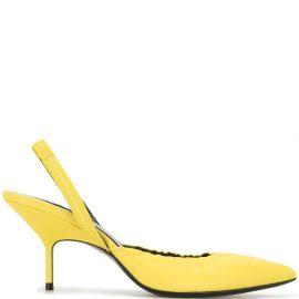 Pierre Hardy Gala slingback sandals - Yellow