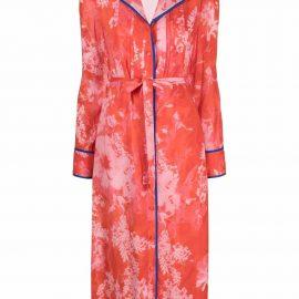 Pinko printed pyjama dress - Red