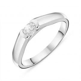 Platinum 0.24ct Diamond Oval Solitaire Ring