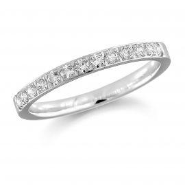 Platinum 0.35ct Grain Set Round Brilliant Cut - Ring Size N