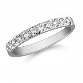 Platinum 0.50ct Grain Set Round Brilliant Cut - Ring Size M