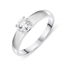 Platinum 0.53ct Diamond Brilliant Cut Solitaire Ring