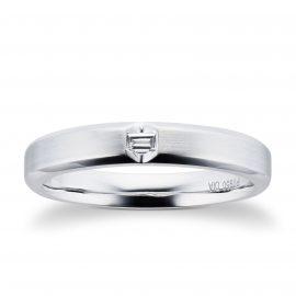 Platinum Mens 0.06cttw Diamond Wedding Ring