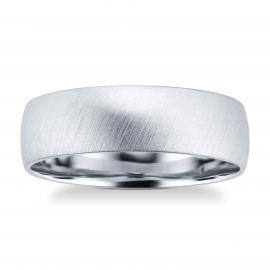 Platinum Mens Matte Fancy Wedding Ring - Ring Size P