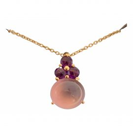Pomellato Luna pink gold pendant