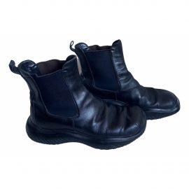 Prada Block Combat leather biker boots