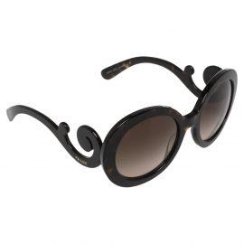 Prada Brown Tortoise SPR27N Baroque Gradient Oversized Sunglasses