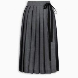 Prada Grey pleated skirt