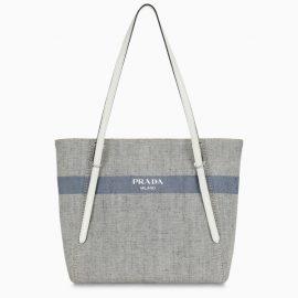 Prada Grey shopping bag