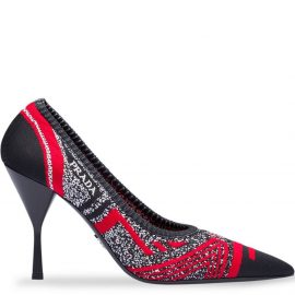 Prada Knit fabric pointy toe pumps - Red
