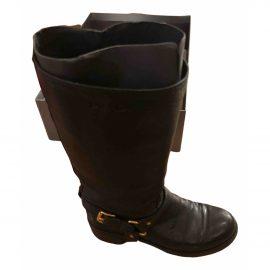 Prada Leather wellington boots