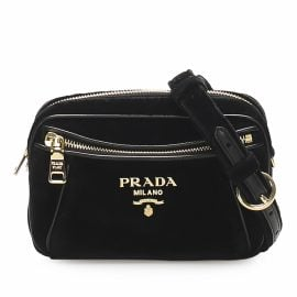 Prada N Black Cloth Belt Bag for Men