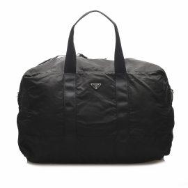Prada N Black Cloth Travel Bag for Women