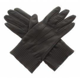 Prada N Black Leather Gloves for Women