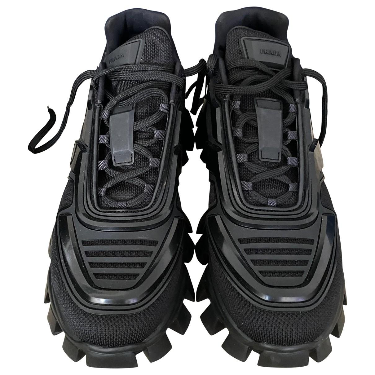 Prada N Black Leather Trainers for Men