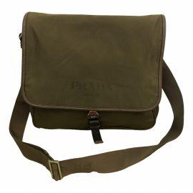 Prada N Brown Cloth Bag for Men