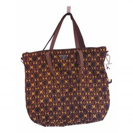 Prada N Brown Cloth Clutch Bag for Women