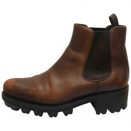 Prada N Brown Leather Ankle boots for Women