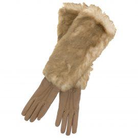 Prada N Brown Leather Gloves for Women