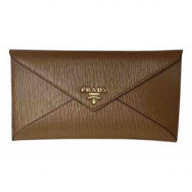 Prada N Camel Leather Clutch Bag for Women