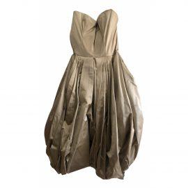 Prada N Gold Silk Dress for Women
