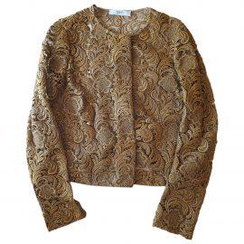 Prada N Gold Silk Jacket for Women