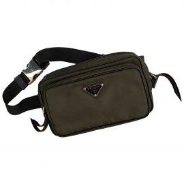 Prada N Green Cloth Clutch Bag for Women