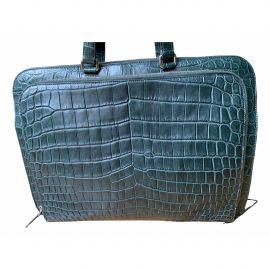 Prada N Green Crocodile Bag for Men