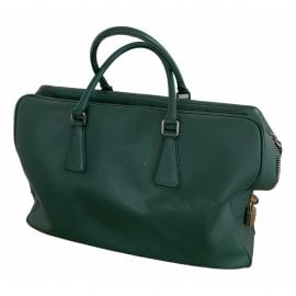 Prada N Green Leather Bag for Men