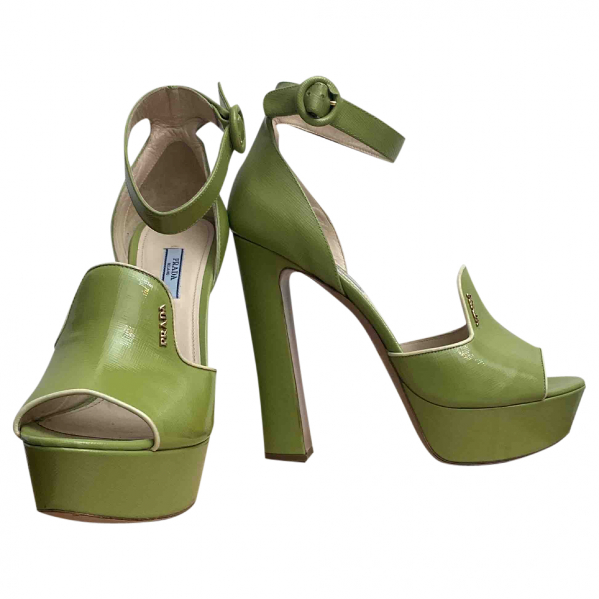 Prada N Green Leather Sandals for Women