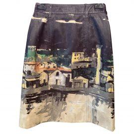 Prada N Multicolour Leather Skirt for Women