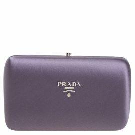Prada N Purple Silk Clutch Bag for Women