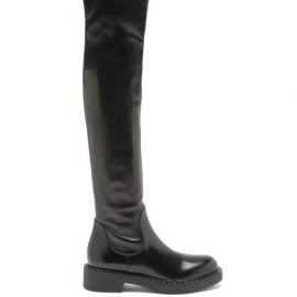 Prada - Over-the-knee Leather Boots - Womens - Black