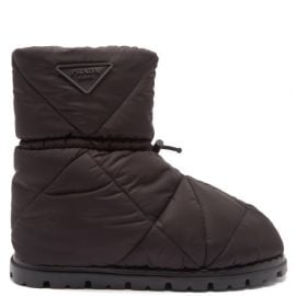 Prada - Padded Nylon Snow Boots - Mens - Black