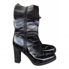 Prada Patent leather biker boots