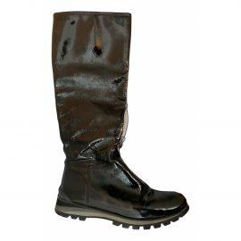 Prada Patent leather wellington boots