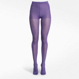 Prada Purple ribbed tights