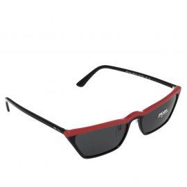 Prada Red/Grey SPR 19U Cat Eye Sunglasses